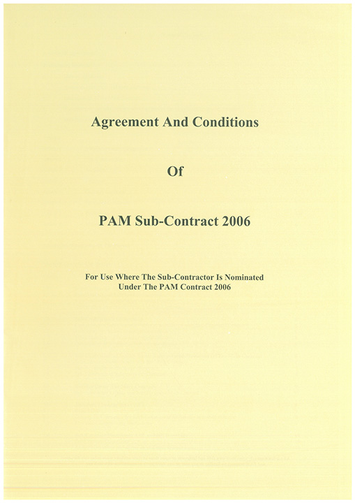 Pam Contracts Agreement And Conditions Of Pam Sub Contract 2006